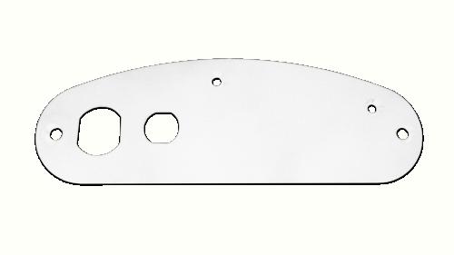 Suporte Placa Supra - Plástico Branco